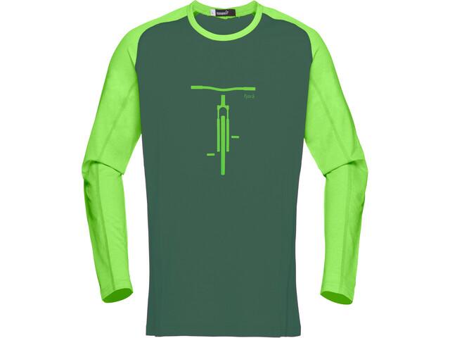 Norrøna Fjørå Equaliser Lightweight Long Sleeve Men bamboo green